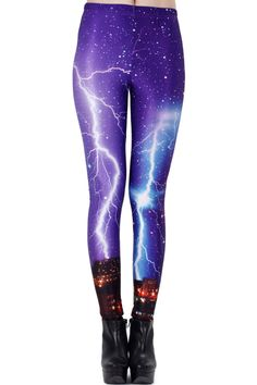 Galaxy Flash Print Leggings