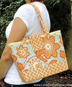 Lazy Girl Designs Mini Miranda Bag Pattern Lazy Girl Designs, Bag Patterns To Sew, Pattern Sewing, How To Purl Knit, Fabric Bags, Fabric Purses, Day Bag, Small Bags, Hobo Bag