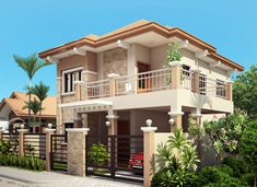 Two storey house plans in philippines home design and style with regard to 2 Two Story House Design, 2 Storey House Design, Duplex House Design, Modern House Design, House Outside Design, House Front Design, Cool House Designs, Contemporary House Plans, Modern House Plans