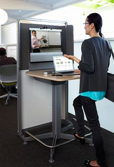 media:scape kiosk is tailored to meet the needs of small group collaboration, rather than the needs of large group video collaboration.