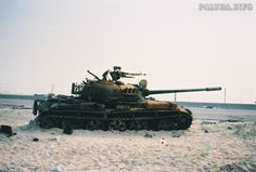 Remains of Iraqi Type 69-II in Kuwait, Operation Desert Storm.