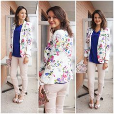 Trips & Treasures: Today I'm wearing...my new floral blazer