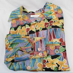 Guessilk Men's 100% Silk Shirt Size S Small Multi-color By Georges Marciano #Fashion #Style #Deal