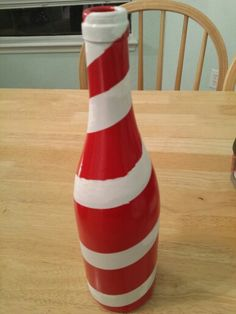 Candy cane bottle-mark off stripes - 11.2KB