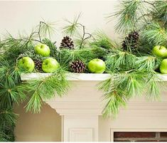 pears and pine cones | simple Christmas decor