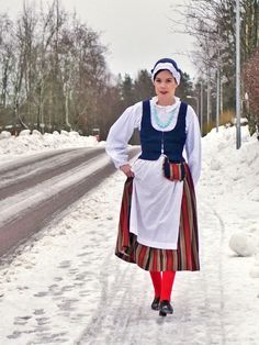Folk Costume, Costumes, Traditional Outfits, Beautiful Images, Finland, Scandinavian, Nostalgia, Bomber Jacket, Jackets