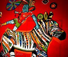 Multicolor Street Art in Cape Town