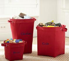 Red Canvas Storage   Pottery Barn Kids - Jackson storage