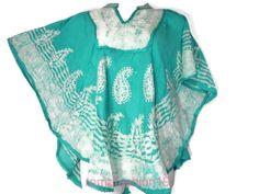 Tie Dye Plus Size Kaftan Tunic Gypsy Dolman Women Poncho Blouse Top up to 5X