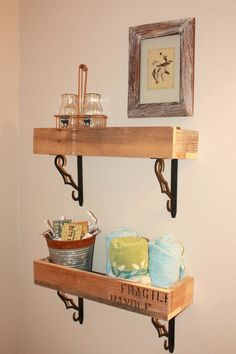 Shelves from pallets---cute rustic idea