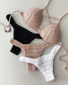 es el bikini de ganchillo más vistoso y hermoso. Part bikini de ganchillo patrones; Love Crochet, Beautiful Crochet, Diy Crochet, Crochet Top, Crochet Bikini Pattern, Crochet Bikini Top, Crochet Patterns, Crochet Bathing Suits, Bikini Outfits