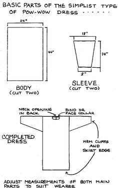 Simple Pow Wow Dress Pattern