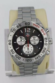 9459607fb8fd Tag Heuer Formula 1 Watch Mens CAZ1114.BA0877 INDY 500 SS CHRONOGRAPH Silver