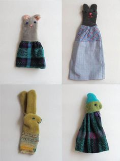 Finger puppets by Alzbeta Skalova. Via Knuffels à la carte.