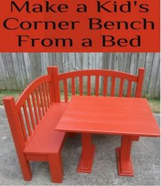 DIY Kids Corner Bench From An Old Bed Frame | Handy & Homemade
