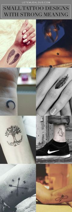Let's talk about Small Tattoo Designs With Strong Meaning. Yeah, that's true – to most people, size does matter because some people are scared of