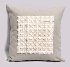 Imagiro. Origami pillow cover by @Pillowation #pillow #pillowcase #cushion #throw #decorative #origami #white #grey #gray