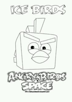 Kleurplaten Angry Birds Race.11 Best Angry Birds Space Images In 2014 Coloring For Kids