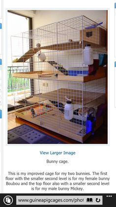 Indoor rabbit cage with multiple levels for bunnies pets.  Dun4Me is the marketplace for custom made items built to your exact specifications by talented makers. Get bids for free, no obligation!
