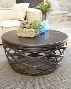 Industrial Renaissance Outdoor Coffee Table
