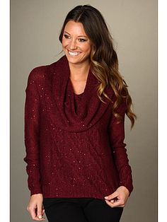 Red and sparkly...my kind of sweater!
