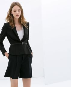 Zara black belted jacket
