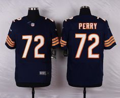 2671fabe Chicago Bears #72 William Perry Navy Blue Retired Player NFL Elite Jersey