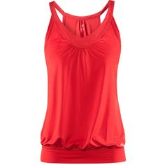 H&M Functional top ($19) ❤ liked on Polyvore featuring tops, shirts, tank tops, tanks, red, women, red tank, h&m shirts, red singlet and stretch tank top