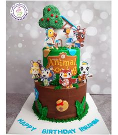 Animal Birthday, 5th Birthday, Mommys Boy, Party Themes, Party Ideas, Birthday Cake Decorating, Themed Cakes, Print Pictures, Animal Crossing
