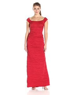 Alex Evenings Womens Long Fitted Stretch Taffeta Off the with Fishtail Skirt Red 14 >>> Check out the image by visiting the link.
