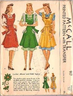 Vintage Fashion Library - Apron Patterns