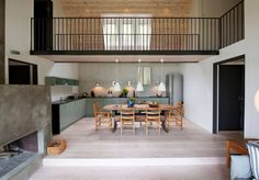 Arkitektprosjekt Skottevika - Skaara Arkitekter AS Table, Attic, Furniture, Arch, Home Decor, Homemade Home Decor, Mesas, Home Furnishings, Arches