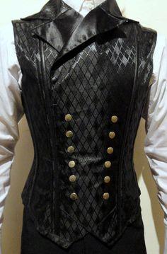 Victorian Male Vest Corset, Victorian Waistcoat Corset handmade