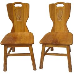 1stdibs | Pair of Texas Cactus Chairs