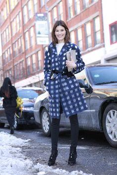 Los mejores looks de Street Style en la Semana de la Moda de Nueva York: Hanneli Mustaparta