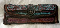 Nuno Felted Clutch Stitched and Hand Dyed by RainasTextileHouse, $80.00  BLACK FRIDAY, Cyber Monday SALE!