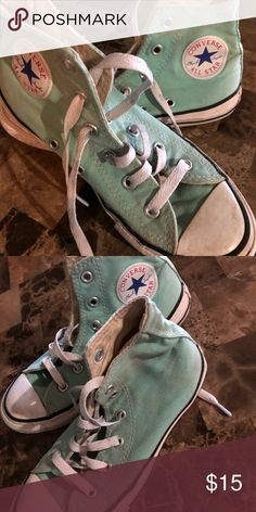 c84b93e6170d Converse High top turquoise converse Converse Shoes Sneakers Converse High