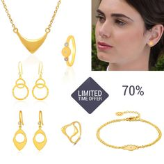 GET right now over 300 kr discount on these design fashion jewelry. 70% discount. Also available in silver, pink, dark silver watch them all here
