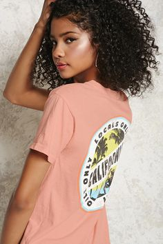 """A knit tee featuring a """"Los Angeles California Locals Only"""" graphic on the front and back, round neckline and short sleeves."""