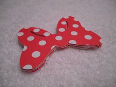 12 Minnie Mouse Bows 2.5 inch Red with by MyThreeSonsByKristin, $2.50