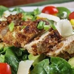 Spinach with Pistachio Chicken - Allrecipes.com, use coconut oil not olive oil. Looks good! THM S