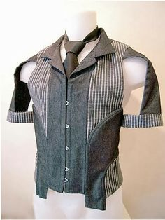 """fa15046aa4 ambidexterous  """" Fantastic hybrids of menswear and corsetry by Sylvain  Nuffer."""