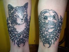 Owl and Pussycat tattoos
