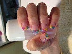 nails tips nail art colorful