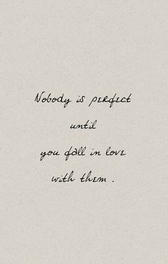 nobody is perfect...
