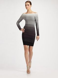 Herve Leger  Long-Sleeve Bandage Dress ($1850)