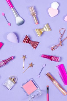 & Glory: December favourites Colourful product photography and styling for fun brands!Colourful product photography and styling for fun brands! Pink Wallpaper Iphone, Cute Wallpaper For Phone, Pastel Wallpaper, Wallpaper Backgrounds, Makeup Photography, Still Life Photography, Product Photography, Makeup Wallpapers, Cute Wallpapers