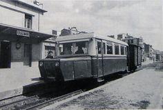 Automotor frente a la estación de Arnedo.(Foto Ferran Llauradó)
