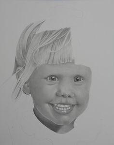Pencil portrait drawing by REKnox