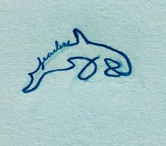 Tiny tattoo - Fearless Orca (killer whale) tattoo idea